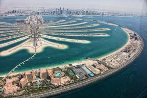 A grandiózus beruházások, mint például a Pálma-sziget jellemzik legjobban Dubajt. Hazánkból egyre könnyebben és olcsóbban elérhető az öböl-menti luxus. (Fotó: Visit Dubai)