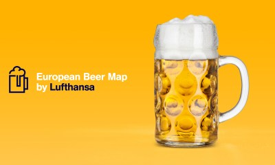 Lufthansa Beer Map