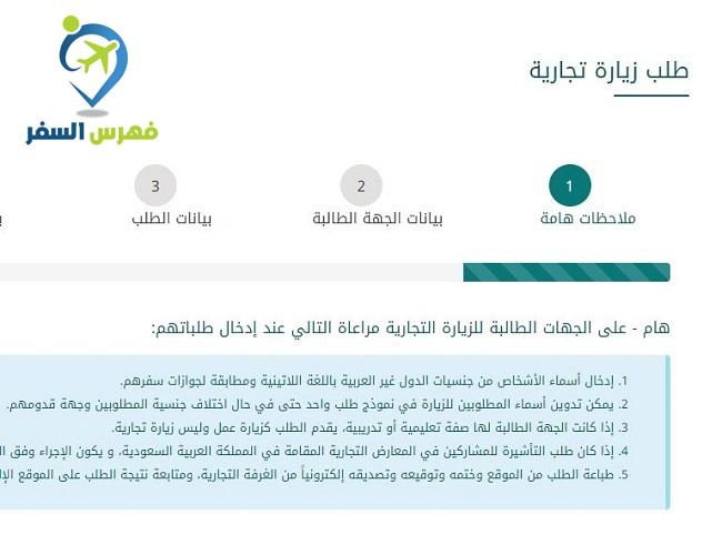 خطاب دعوة زيارة تجارية للحصول على التأشيرة السعودية فهرس السفر