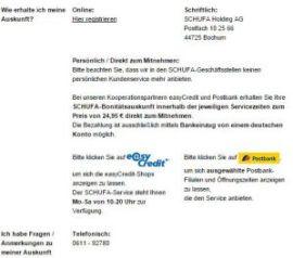 Schufa auskunft selbst abholen - meinschufa.de am 20.12.2014