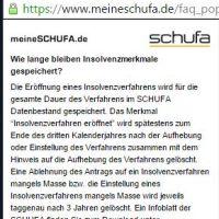 Schufa FAQ auf meineschufa.de