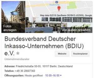 Bdiu Bundesverband Deutscher Inkassounternehmen Ev Schufa