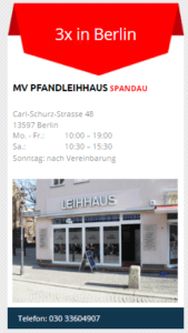 Pfandleihhaus in Spandau