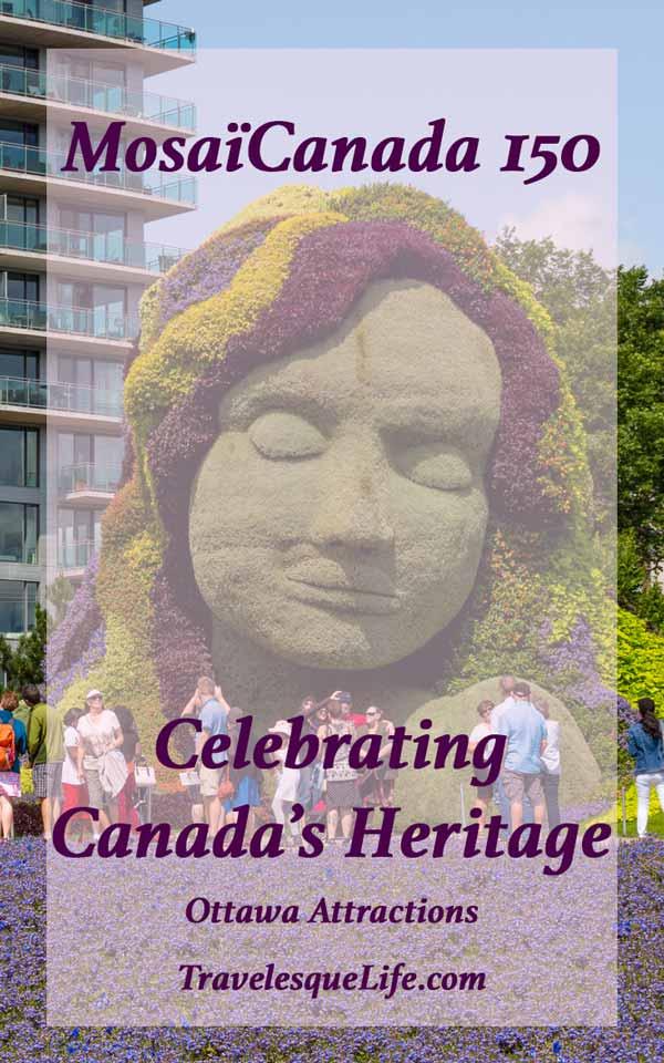MosaïCanada 150 - Attraction Ottawa - a walk through Jacque Cartier Park celebrating Canada's 150th birthday through beautiful topiaries - travelesquelife.com