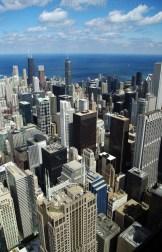 Chicago - widok z tarasu widokowego Wills Tower (dawniej Sears Tower)