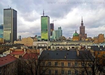 Warszawa - widok z kamienicy przy ul. E. Plater