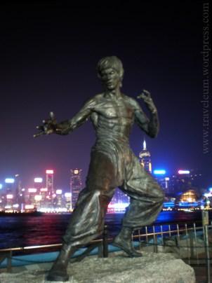 Hongkong - pomnik Bruce Lee