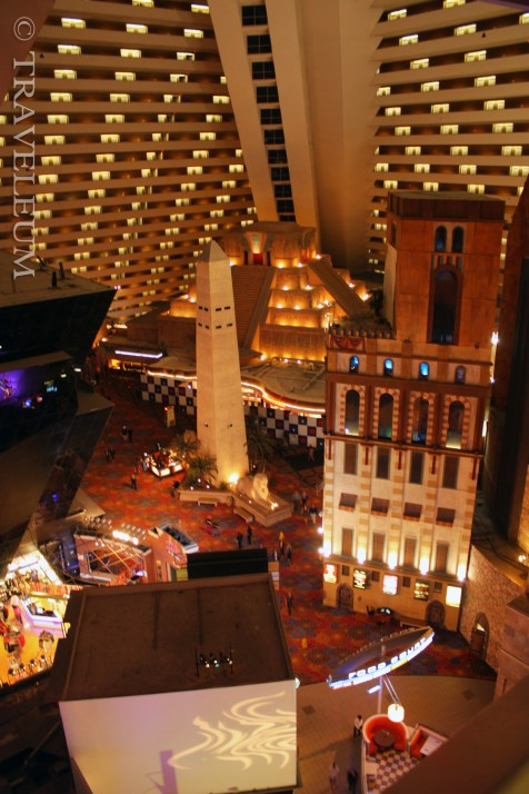 The Luxor Hotel gigantic atrium