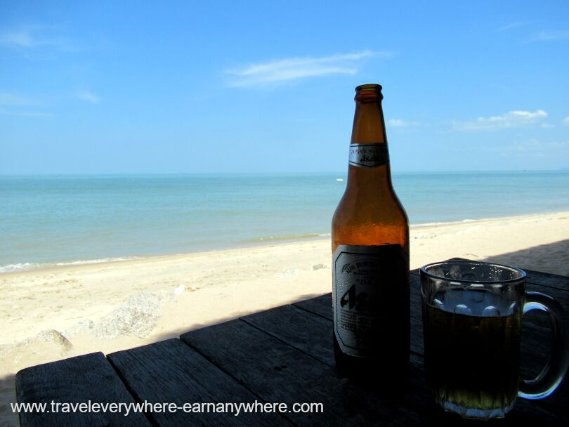 Afternoon beer on the beach in Penang