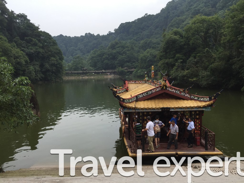 Quincheng Mountain Boat Chengdu