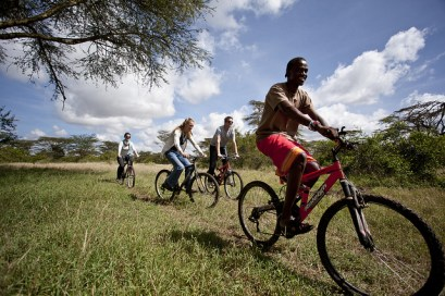 Cycling at Solio Lodge, Kenya, Africa