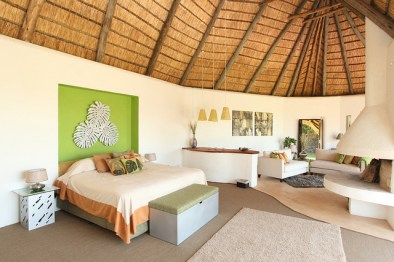 One of the bedrooms at Solio Lodge, Kenya, Africa