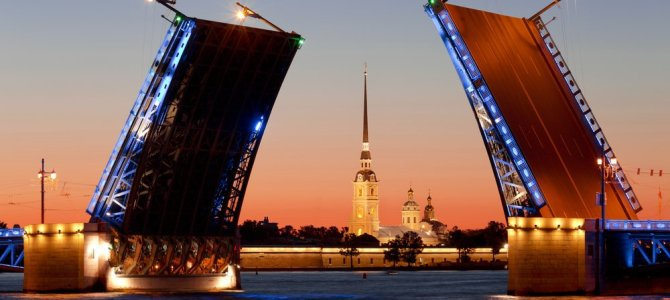 White nights in St Petersburg