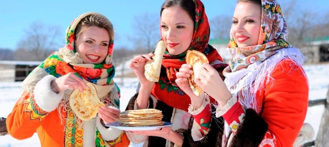 Pancake week in Russia