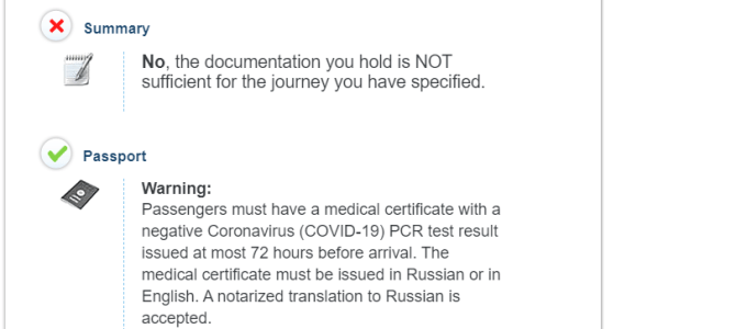 Health & Document Requirements for International Travel