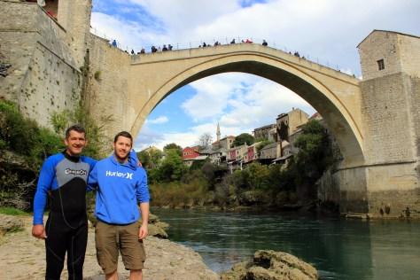 Meeting a crazy bridge jumper in Mostar, Bosnia and Herzegovina