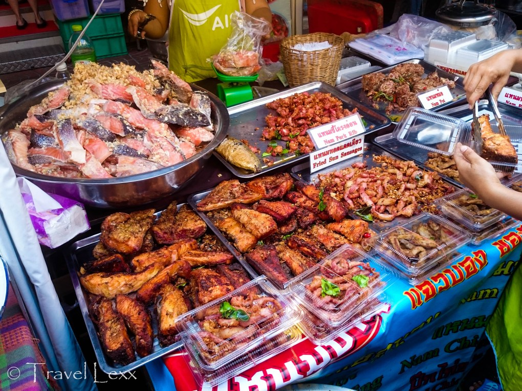 On of the food stalls
