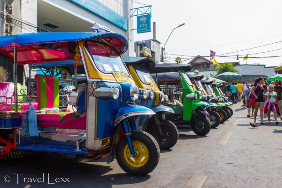Tuk tuks, Bangkok - travel mistakes