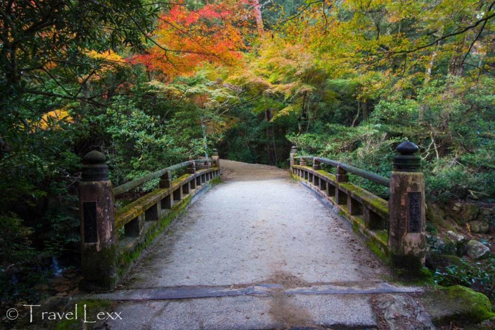 A bridge near Momijidani Park, Miyajima