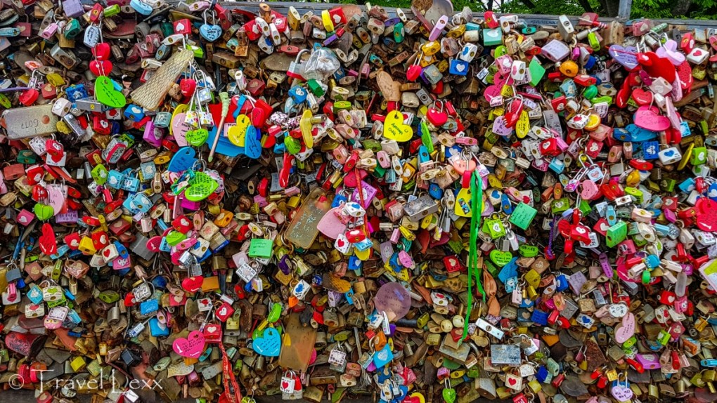 Love Locks at top of Mt. Namsan in Seoul