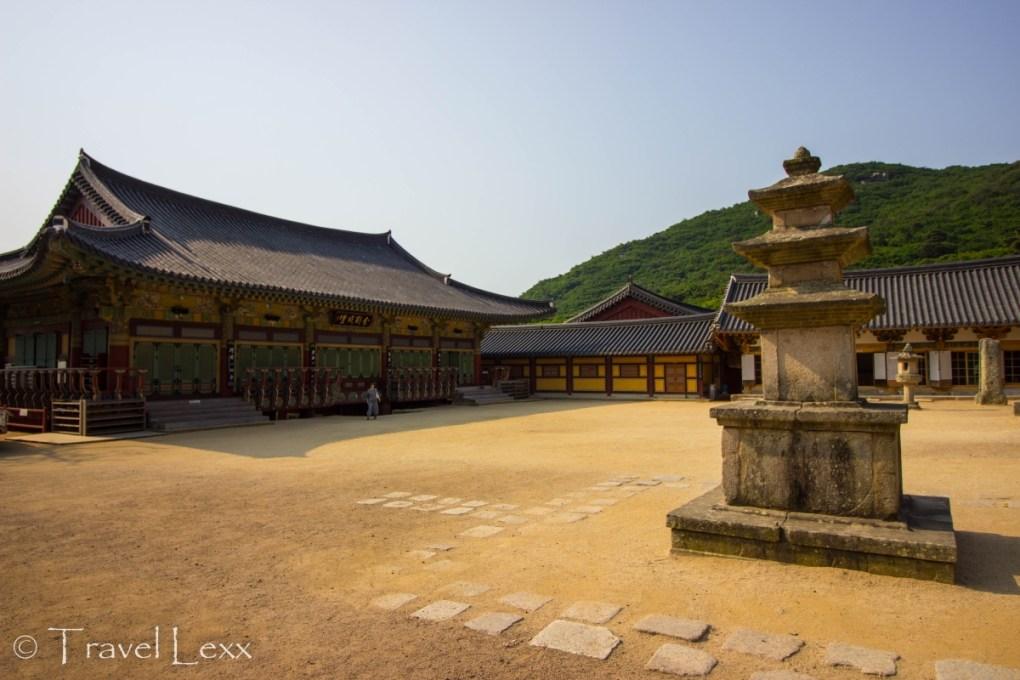Beomeosa Temple courtyard- Korea hiking trails