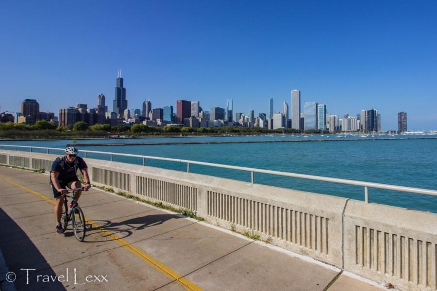 Chicago skyline - Chicago Lakefront Trail