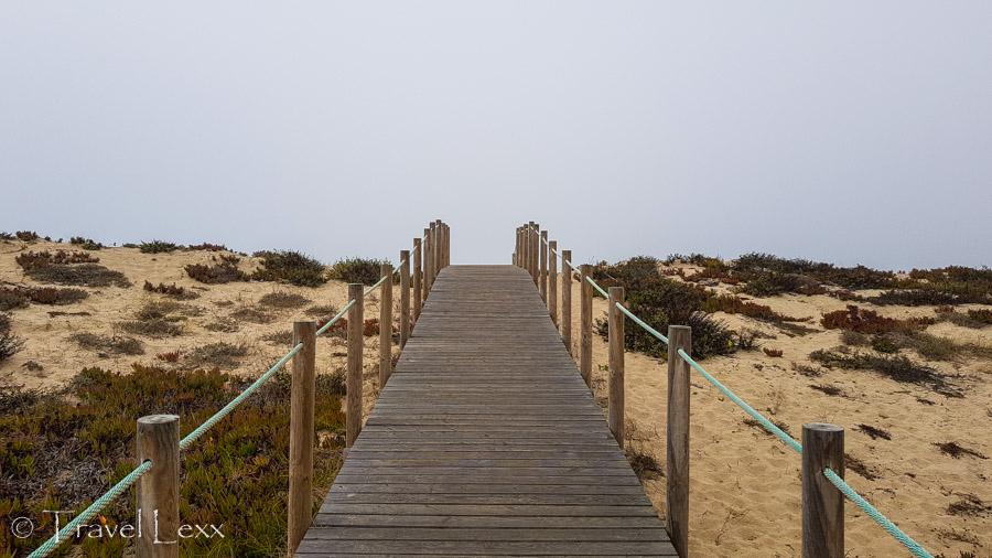 Boardwalk leading to the beach - Capela do Senhor da Pedra