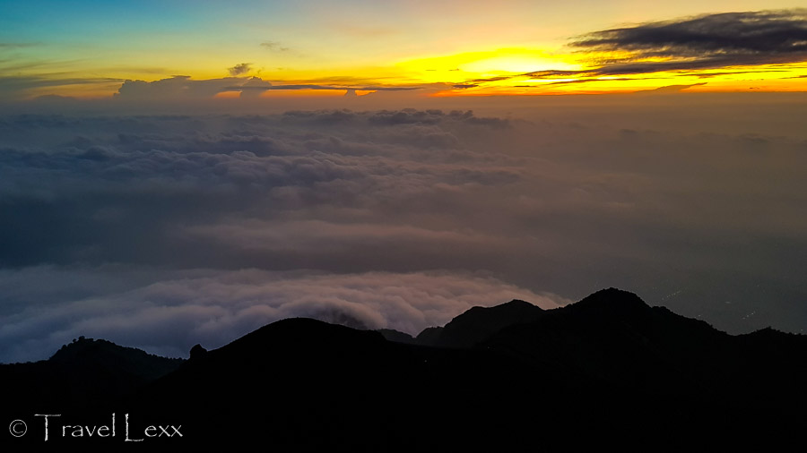 Hiking to Mt Merapi - view from the summit