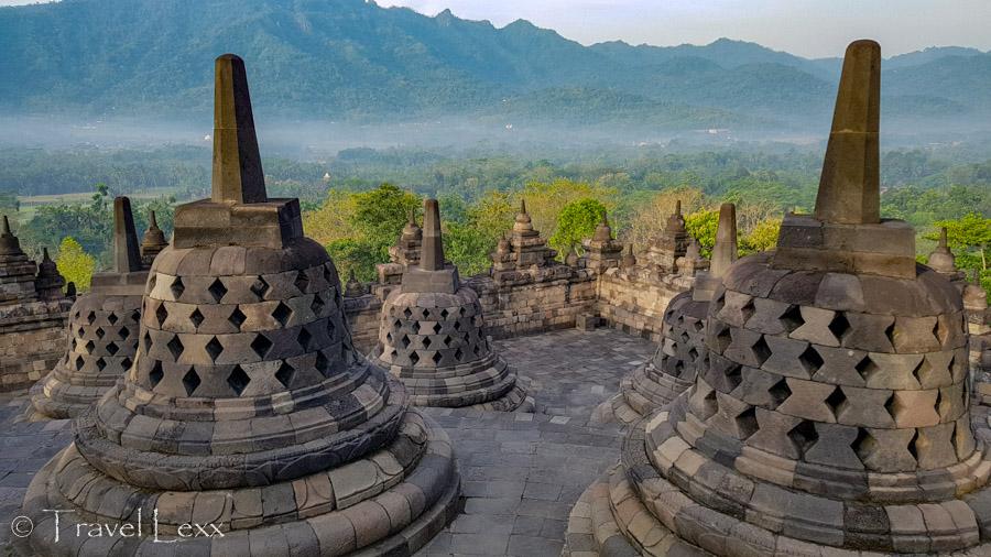 Stupas at the UNESCO World Heritage-listed Borobudur