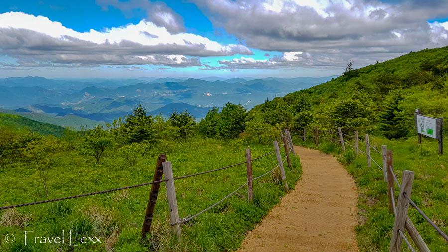 A path along a plateau in Sobaeksan National Park