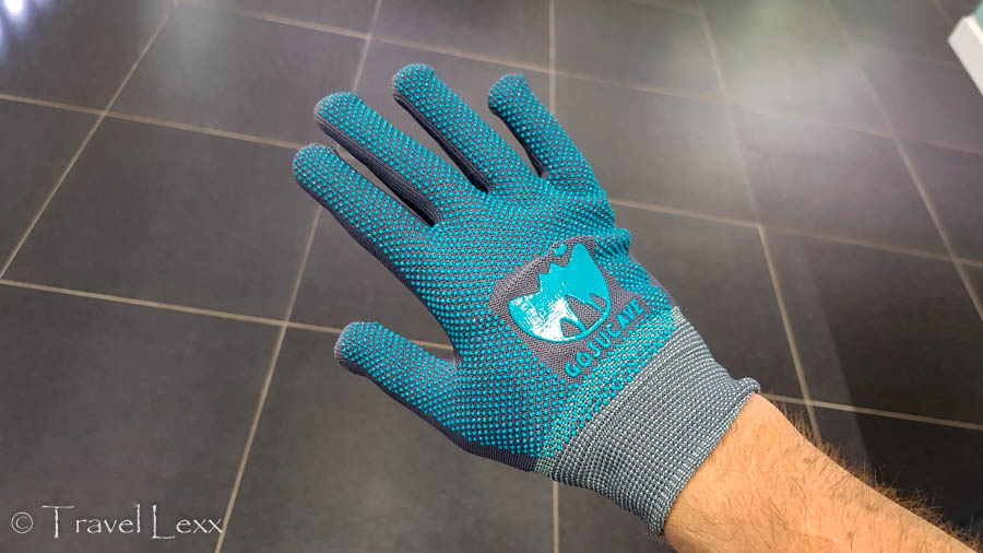 A pair of gloves included in the ticket price of Gosu Cave