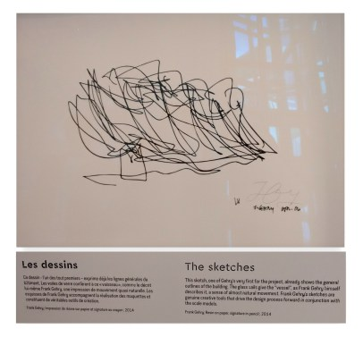 Frank Gehry's sketch of the building.