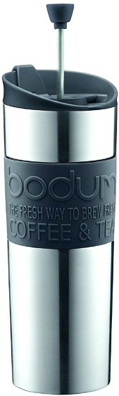 best-travel-gifts-for-men-bodum-stainless-steel-travel-coffee-and-tea-press