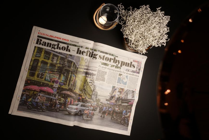 An article over 3 pages from Bangkok in VG, Norway's largest newspaper