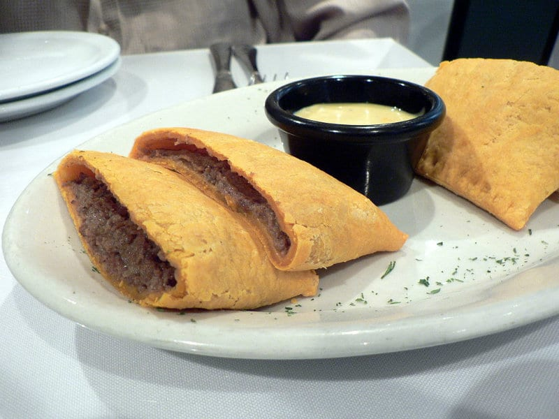 Typical beef patties of Jamaica