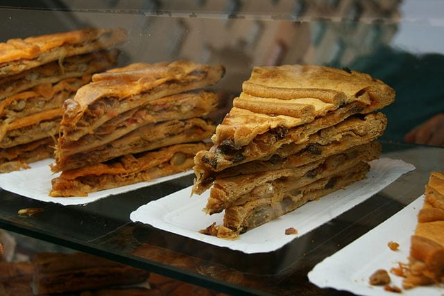 Empanada Gallega is a tuna filled pastry