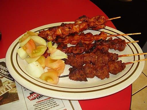 Suya is a spicy meat skewer