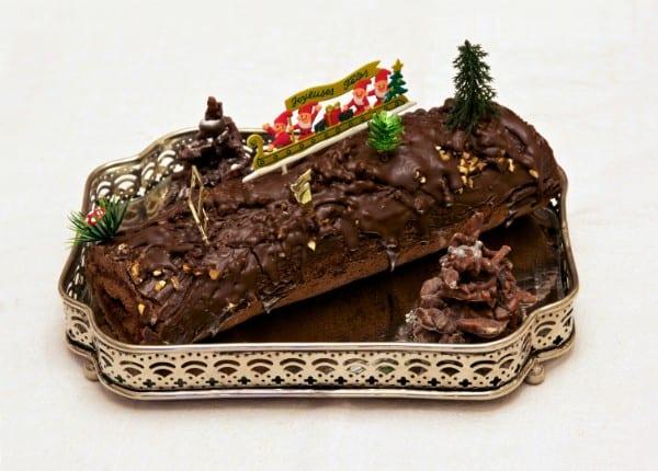 Christmas log Maltese desert