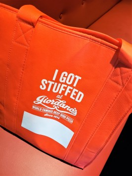 Giordanos Arizona - take home pizza bag - travel foodie mom