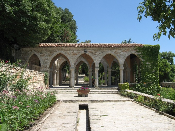 The Nymphaeum, an open pavillion in the gardens
