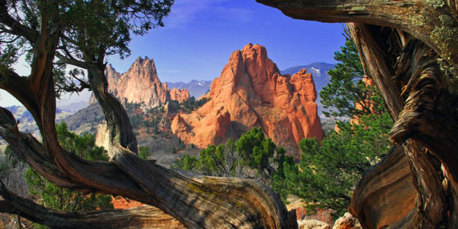 Garden of the Gods Park, the view from the best restaurants in Colorado Springs.