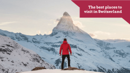 The best places to visit in Switzerland