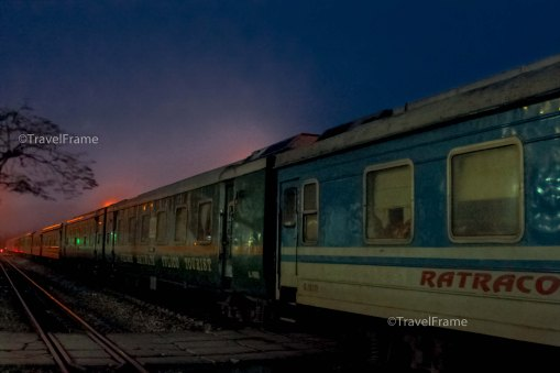 Early morning when my train arrived at Lao Chai train station