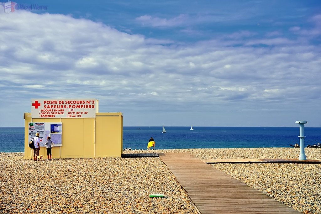 1st Aid post on the Dieppe beach