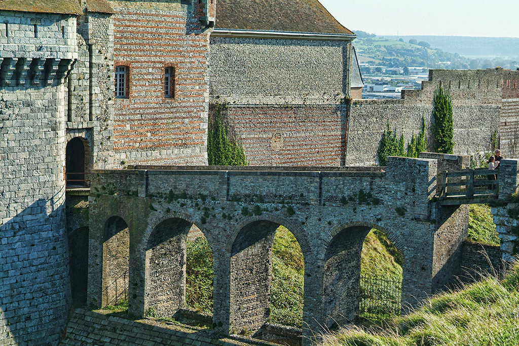 Drawbridge of the Dieppe castle