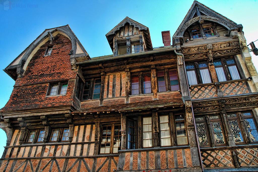 Old wooden hotel in Etretat