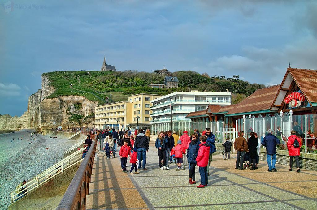 North side of the Etretat beach promenade