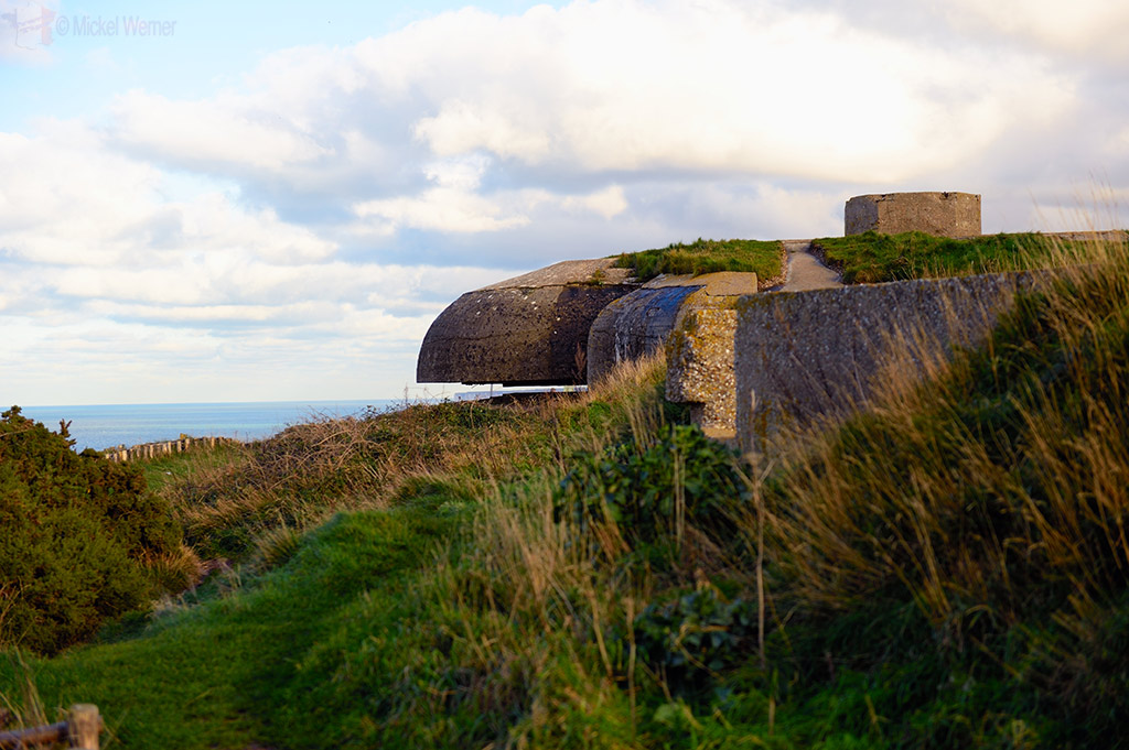 Enormous WWII bunkers on the cliffs of Fecamp