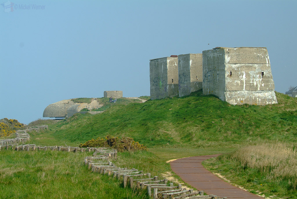 WWII air towers of the bunkers in Fecamp
