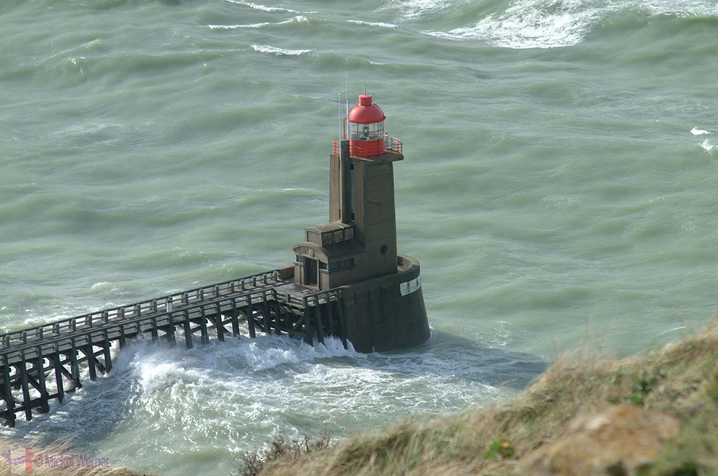 One of two lighthouses of Fecamp